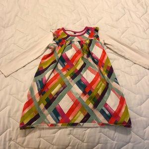 Rainbow Plaid Tea Collection Layered Dress size 6